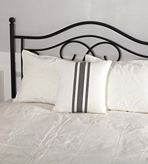 Piper Classics Silo Hill Charcoal Grain Sack Stripe Pillow Cover 18x18 Farmhouse Dcor Throw Pillow Off White 0 0 300x333