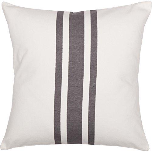 Piper Classics Silo Hill Charcoal Grain Sack Stripe Pillow Cover 18x18 Farmhouse Dcor Throw Pillow Off White 0 1