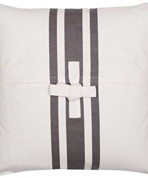 Piper Classics Silo Hill Charcoal Grain Sack Stripe Pillow Cover 18x18 Farmhouse Dcor Throw Pillow Off White 0 2 300x360