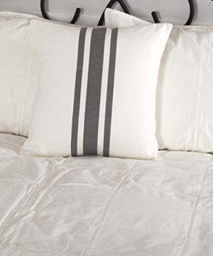 Piper Classics Silo Hill Charcoal Grain Sack Stripe Pillow Cover 18x18 Farmhouse Dcor Throw Pillow Off White 0 300x360
