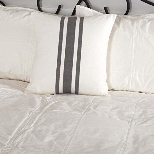 Piper Classics Silo Hill Charcoal Grain Sack Stripe Pillow Cover 18x18 Farmhouse Dcor Throw Pillow Off White 0