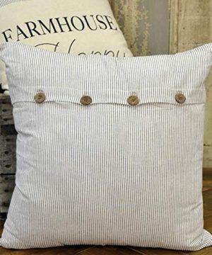 Piper Classics Ticking Stripe Pillow Cover 20 X 20 Farmhouse Style Black Ticking 0 300x360