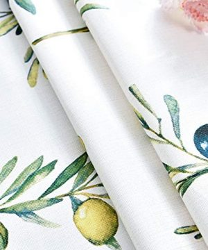 Plastic Tablecloth Wipeable Small Square Vinyl Spillproof Oilcloth Party Tablecloths Farmhouse Luau Dining Tablecloth Beige Olive Fruit 54x54 Inch 0 3 300x360