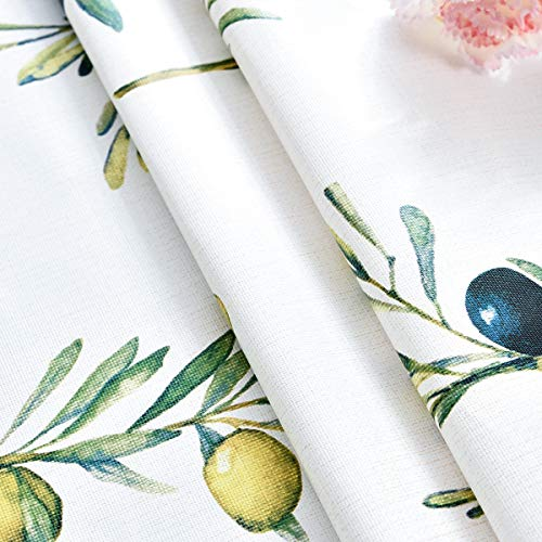 Plastic Tablecloth Wipeable Small Square Vinyl Spillproof Oilcloth Party Tablecloths Farmhouse Luau Dining Tablecloth Beige Olive Fruit 54x54 Inch 0 3