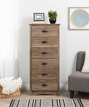 Prepac Salt Spring 6 Drawer Tall Chest Drifted Gray 0 300x360