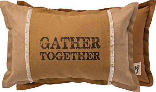 Primitives By Kathy Decorative Gather Together Cotton Throw Pillow 19 X 12 Inch 0 0
