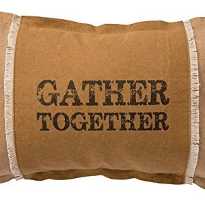 Primitives By Kathy Decorative Gather Together Cotton Throw Pillow 19 X 12 Inch 0 300x299