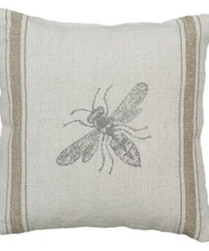Primitives By Kathy Distressed Throw Pillow 10 X 10 Inches Bumblebee 0 300x360