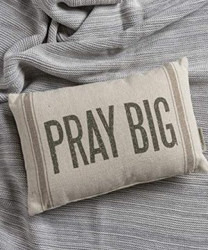 Primitives By Kathy Light Striped Pillow 15 X 10 Inches Pray Big 0 0 300x360