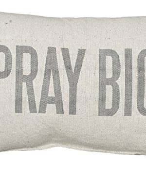 Primitives By Kathy Light Striped Pillow 15 X 10 Inches Pray Big 0 300x351