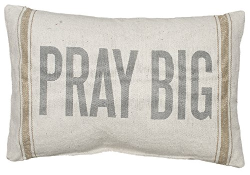 Primitives By Kathy Light Striped Pillow 15 X 10 Inches Pray Big 0