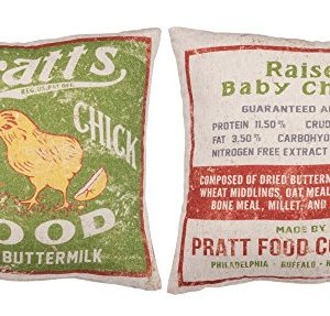 Primitives By Kathy Vintage Feed Sack Style Baby Chick Food Throw Pillow 0 1 300x287