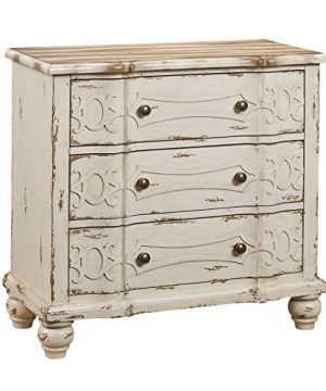 Pulaski Ornate Overlay 3 Drawer Accent Storage Chest In Weathered Cream 0 300x360
