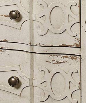 Pulaski Ornate Overlay 3 Drawer Accent Storage Chest In Weathered Cream 0 4 300x360