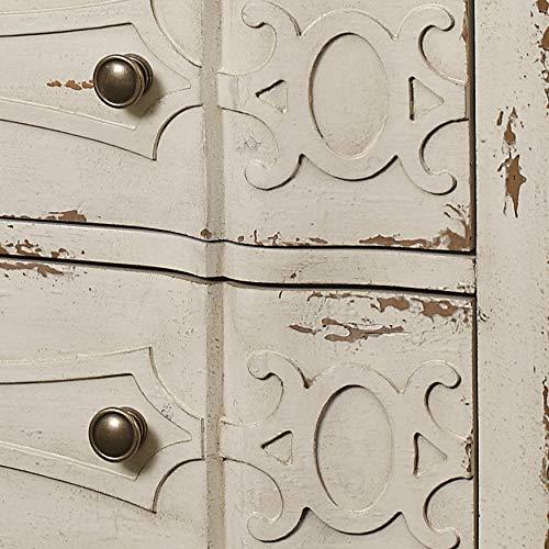 Pulaski Ornate Overlay 3 Drawer Accent Storage Chest In Weathered Cream 0 4