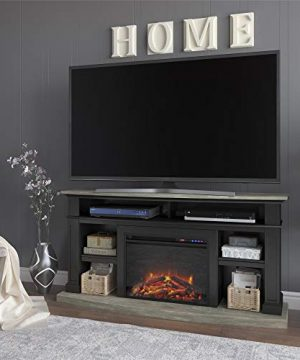 REALROOMS Elena Fireplace TV Stand For TVs Up To 60 Black 0 300x360