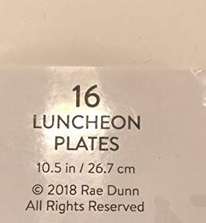 Rae Dunn 16 Eat Luncheon Coated Plates 105 Party Event Holiday 0 0 300x324