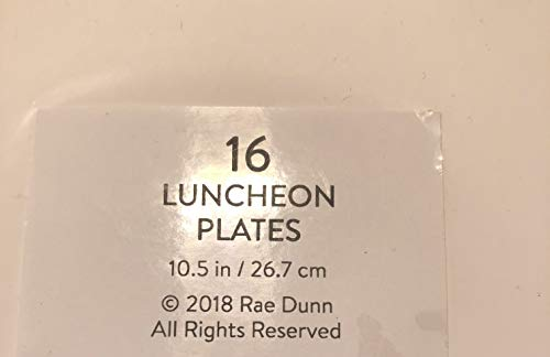 Rae Dunn 16 Eat Luncheon Coated Plates 105 Party Event Holiday 0 0