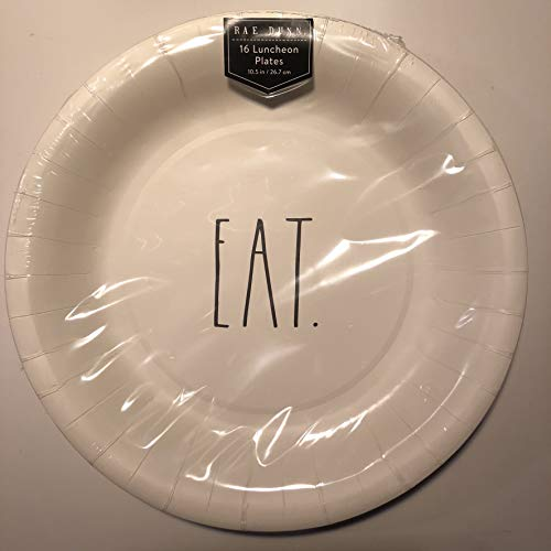 Rae Dunn 16 Eat Luncheon Coated Plates 105 Party Event Holiday 0