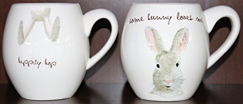 Rae Dunn Artisan Collection Easter Mugs Set Of 2 Mugs Are Approximately 45 Tall 0