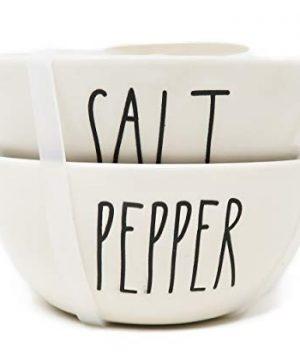 Rae Dunn By Magenta 2 Piece SALT PEPPER Ceramic LL Spice Seasoning Mini Bowl Set 0 300x360