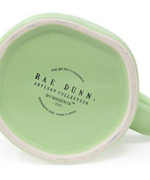 Rae Dunn By Magenta BUNNY KISSES Pastel Light Green Ceramic LL Coffee Tea Mug 2020 Limited Edition 0 0 300x360
