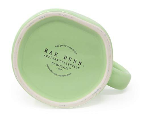 Rae Dunn By Magenta BUNNY KISSES Pastel Light Green Ceramic LL Coffee Tea Mug 2020 Limited Edition 0 0
