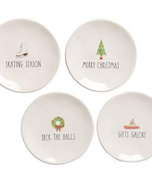 Rae Dunn Christmas Holiday Appetizer Plates Set Of 4 Gifts Galore 0 300x360