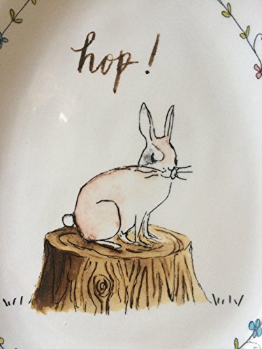 Rae Dunn EASTER HOP Small Plate Server By Magenta 0 1