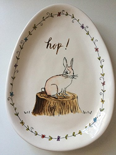 Rae Dunn EASTER HOP Small Plate Server By Magenta 0