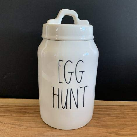 Rae Dunn EGG HUNT Easter Canister 8 Inches Tall Ceramic 0