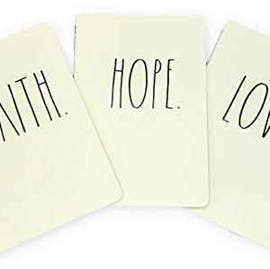 Rae Dunn Faith Hope Love Notebook Trio Writing Journal Office Diary Softbound 80 Lined Pages 0 300x299