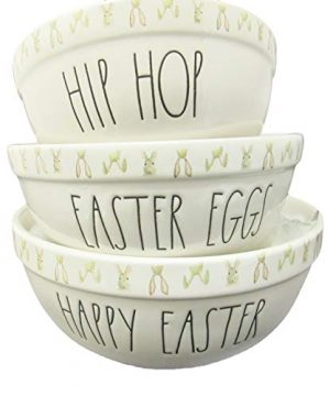 Rae Dunn HIP HOP EASTER EGGS HAPPY EASTER Nesting Mixing Bowls Set Of 3 By Magenta 0 300x360