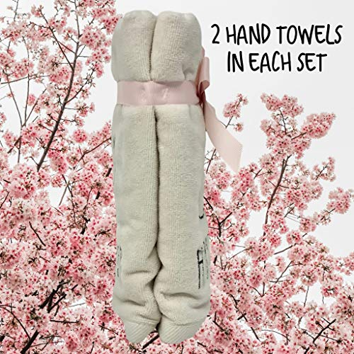 Rae Dunn Happy Easter White Hand Towels Artisan Collection By Magenta Happy Easter In Large LL Font With Super Cute Rabbit Embroidered On The Front Of Every Each Towel PackSet Of 2 0 4