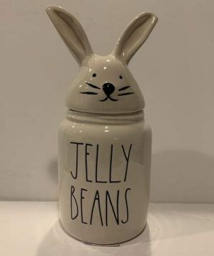 Rae Dunn JELLY BEANS Easter Canister 2020 Limited Edition Ceramic Very Rare 0 300x360