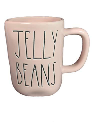 Rae Dunn JELLY BEANS Mug Allside Pink Ceramic Very Rare 0