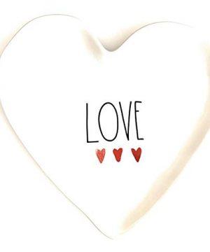 Rae Dunn LOVE Heart Plate Ceramic Very Rare 0 300x360
