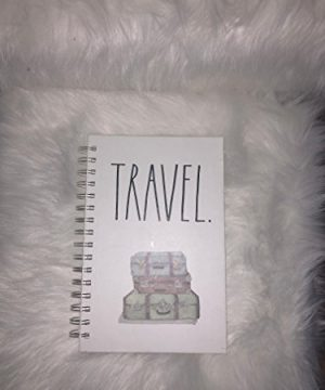 Rae Dunn Large Letter Travel Spiral Notebook 160 Lined Pages 0 300x360