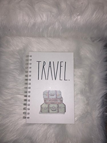 Rae Dunn Large Letter Travel Spiral Notebook 160 Lined Pages 0