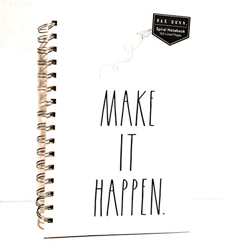 Rae Dunn MAKE IT HAPPEN Notebook And Pen Set Writing Combo 0 0
