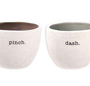 Rae Dunn Magenta Salt And Pepper Cellar Set Pinch And Dash 2 Piece Stoneware 0 300x287