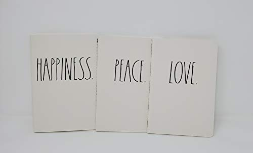 Rae Dunn Notebook Trio Love Peace Happiness 0 0