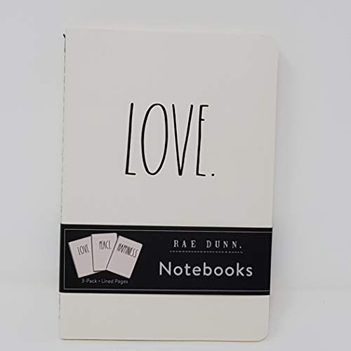 Rae Dunn Notebook Trio Love Peace Happiness 0