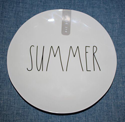 Rae Dunn SUMMER In Large Letters LL Melamine Collection 10 Inch Dinner Plate By Magenta 0