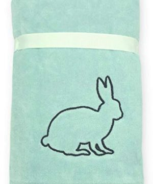 Rae Dunn Spring Easter Hand Towels Set Of 2 Soft Robin Blue Embroidered Happy Easter Easter Bunny Spring Hand Towel Set For Easter Bathroom Home Decor 0 1 300x360