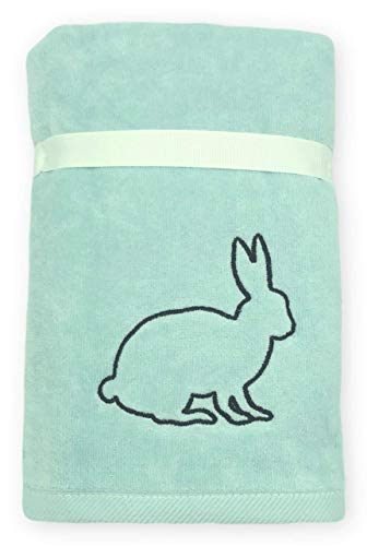 Rae Dunn Spring Easter Hand Towels Set Of 2 Soft Robin Blue Embroidered Happy Easter Easter Bunny Spring Hand Towel Set For Easter Bathroom Home Decor 0 1