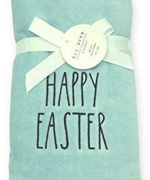 Rae Dunn Spring Easter Hand Towels Set Of 2 Soft Robin Blue Embroidered Happy Easter Easter Bunny Spring Hand Towel Set For Easter Bathroom Home Decor 0 2 300x360