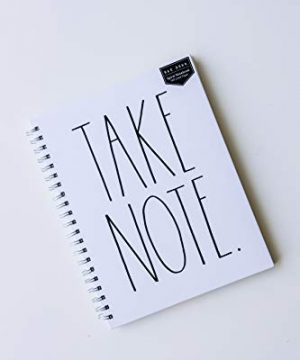 Rae Dunn TAKE NOTE Large Notebook 0 300x360