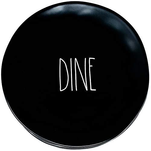 Rae Dunn By Magenta Black Dinner Plates Dine Set Of 6 Plates 11 Inch Diameter 0 0
