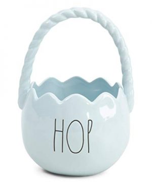 Rae Dunn By Magenta Ceramic Easter Basket Hop Blue 0 300x360